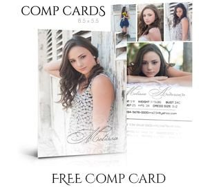 Free Comp Card Template 1000 Ideas About Model P Card On Pinterest