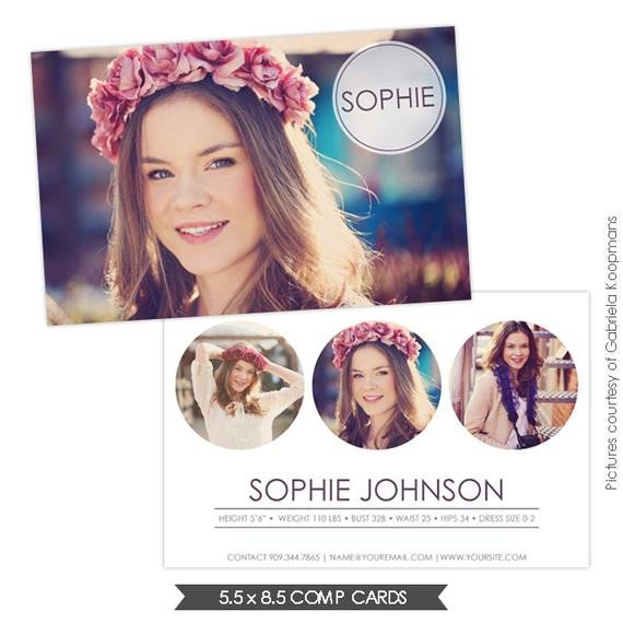 Free Comp Card Template Instant Download Modeling P Card Shop by Birdesign