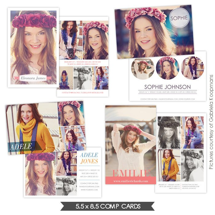 Free Comp Card Template Instant Download Modeling P Cards Shop Templates