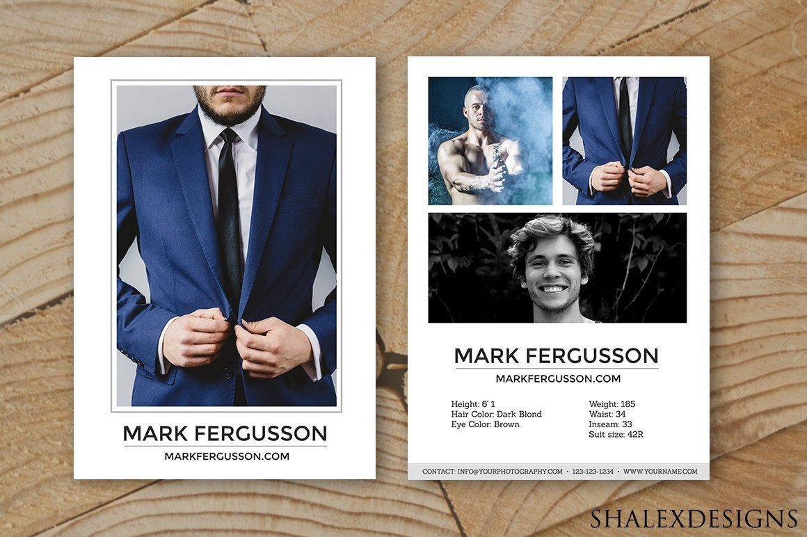Free Comp Card Template Male Modeling P Card Template Card Templates