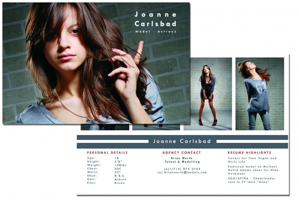 Free Comp Card Template P Card Template