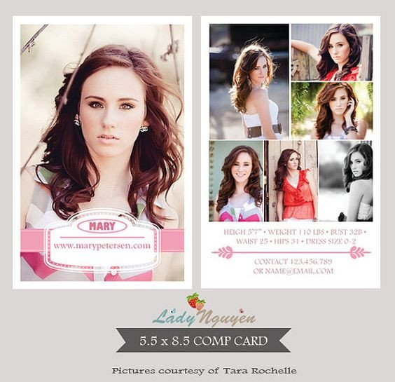 Free Comp Card Template Pinterest • the World's Catalog Of Ideas