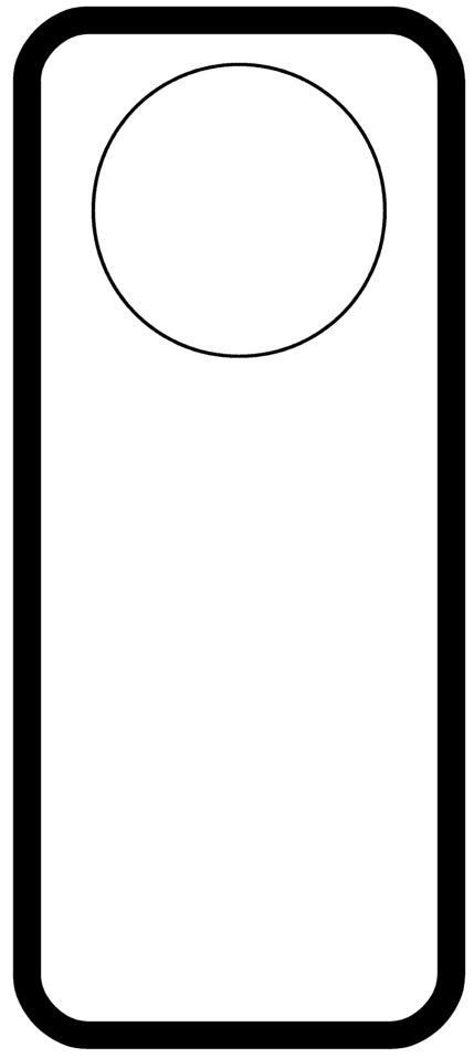 door hanger Templates Pinterest