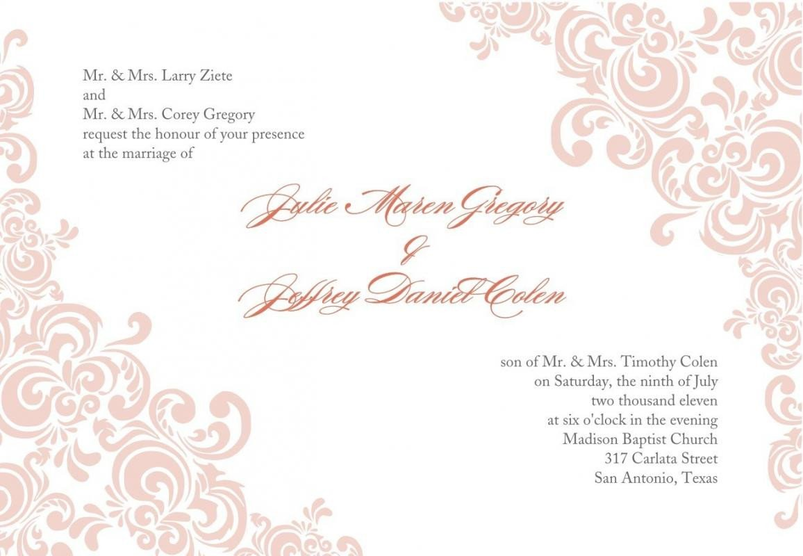Free Download Invite Templates Free Printable Wedding Invitation Templates Download