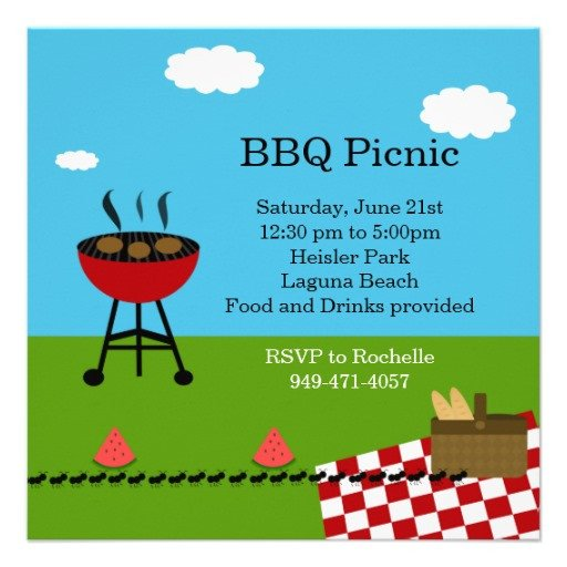 Free Downloadable Picnic Invitation Template Bbq Party Invitation Templates Free