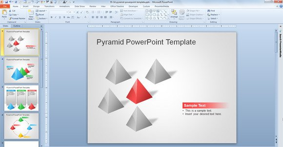 Free Downloads Powerpoint Templates Free 3d Pyramid Template for Powerpoint Presentations