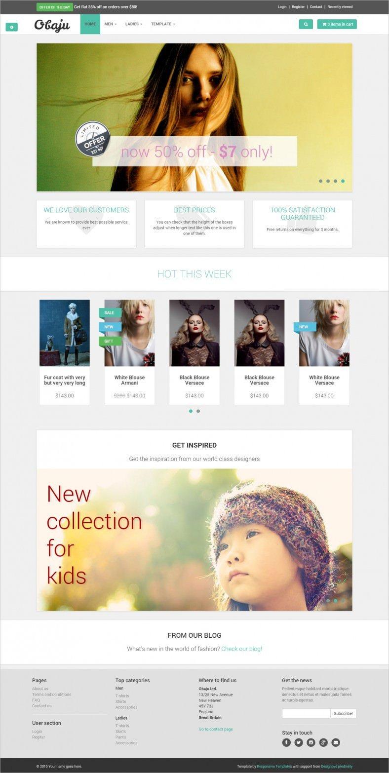 Free Ecommerce Websites Templates 9 Free E Merce Website Templates