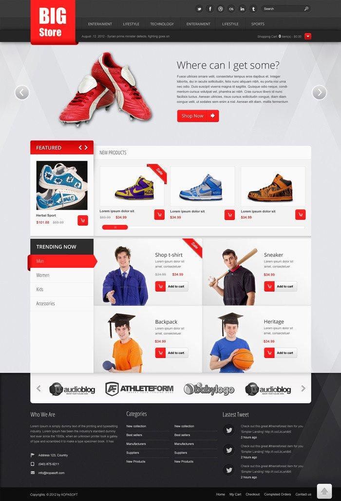 Free Ecommerce Websites Templates Free E Merce Website Templates