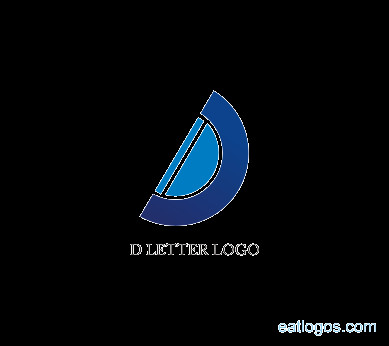 Editable d logo design