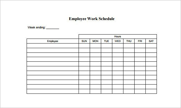 Free Employee Schedule Template Employee Schedule Template 9 Free Word Excel Pdf