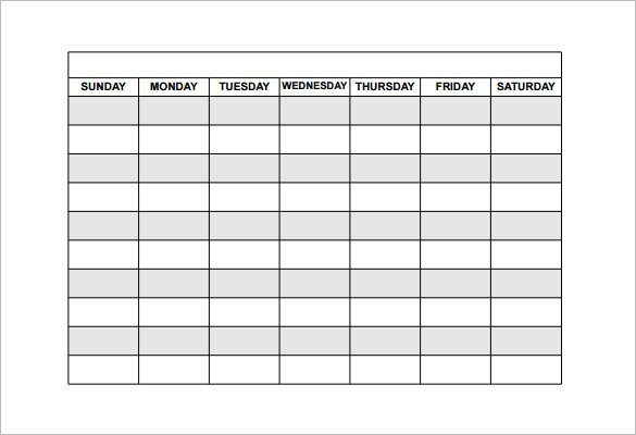 Free Employee Schedule Template Employee Shift Schedule Template 15 Free Word Excel