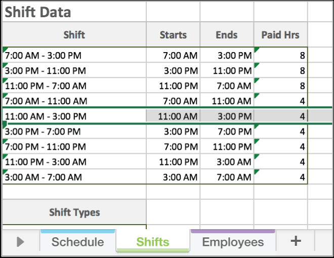 Free Employee Schedule Template Free Excel Employee Scheduling Template