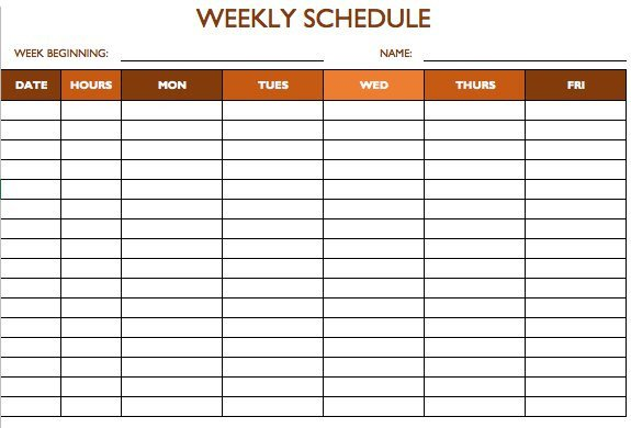 Free Employee Schedule Template Free Work Schedule Templates for Word and Excel