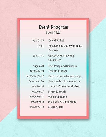 Free event Program Template 24 Program Examples Pdf Psd Doc