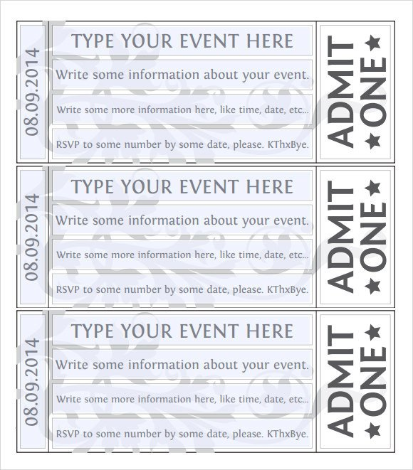 38 Sample Amazing Event Ticket Templates PSD AI Word