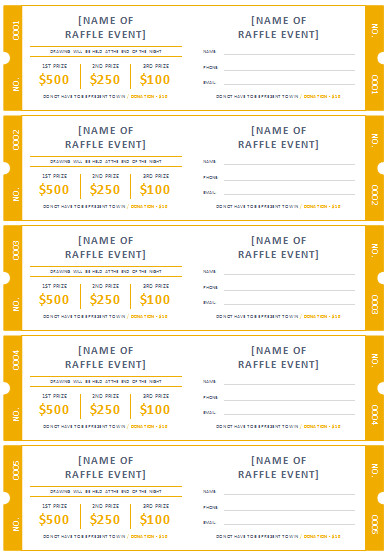 Free event Ticket Template 45 Raffle Ticket Templates