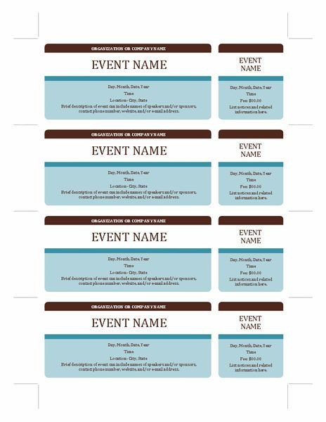 Free event Ticket Template event Tickets Templates Fice