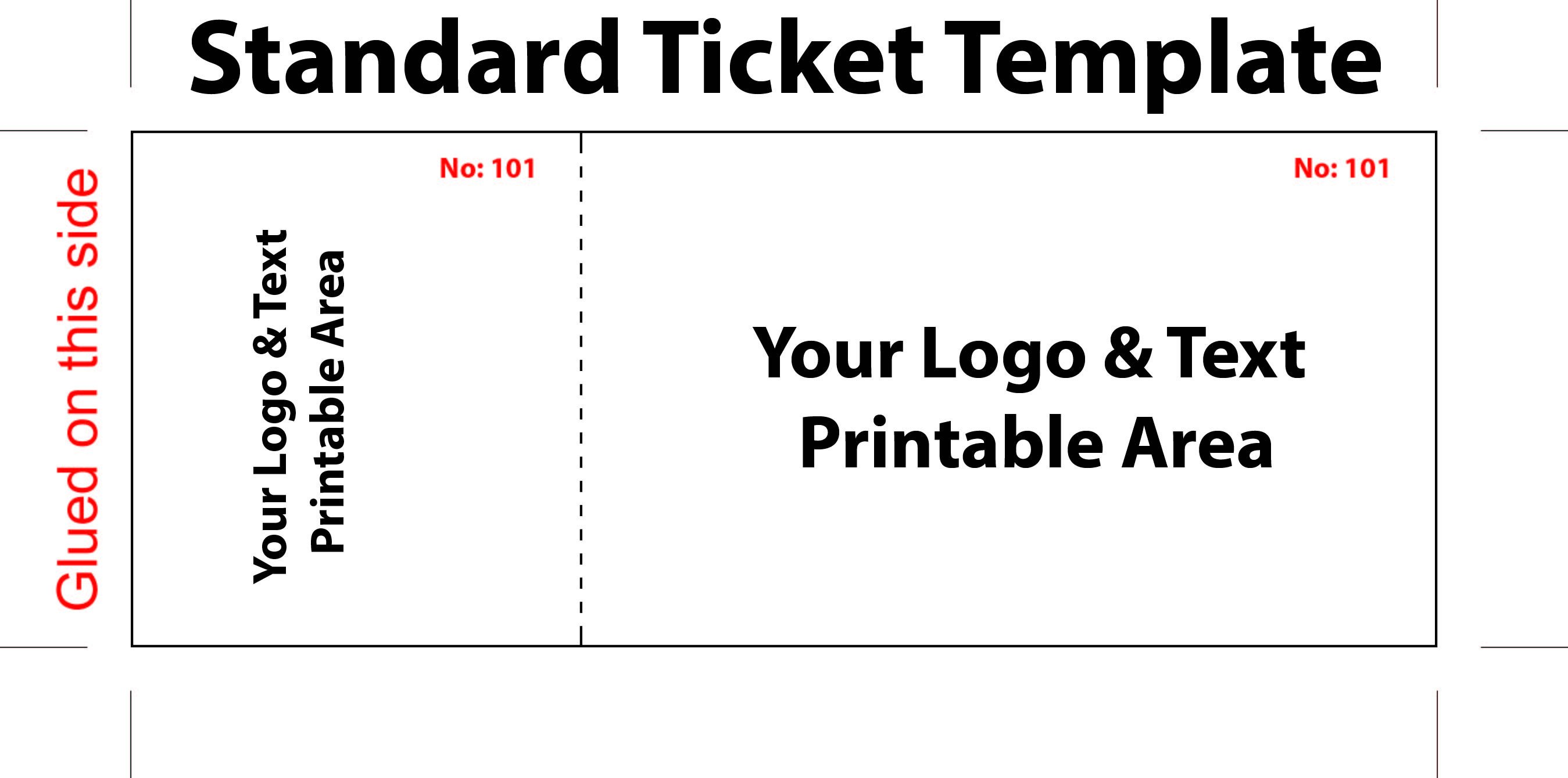 Free event Ticket Template Free Editable Standard Ticket Template Example for Concert
