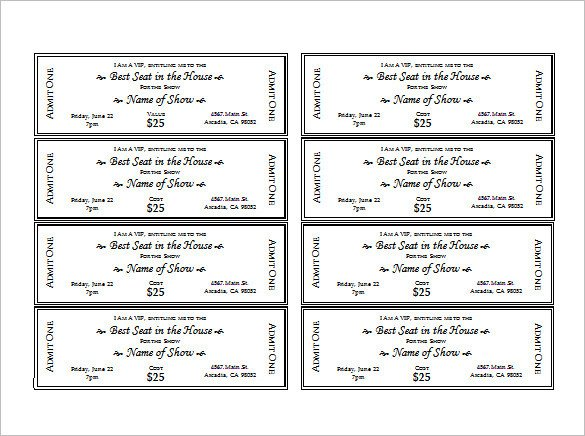 Free event Ticket Template Ticket Templates – 99 Free Word Excel Pdf Psd Eps