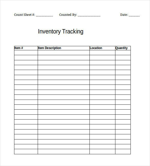 Inventory Template – 25 Free Word Excel PDF Documents