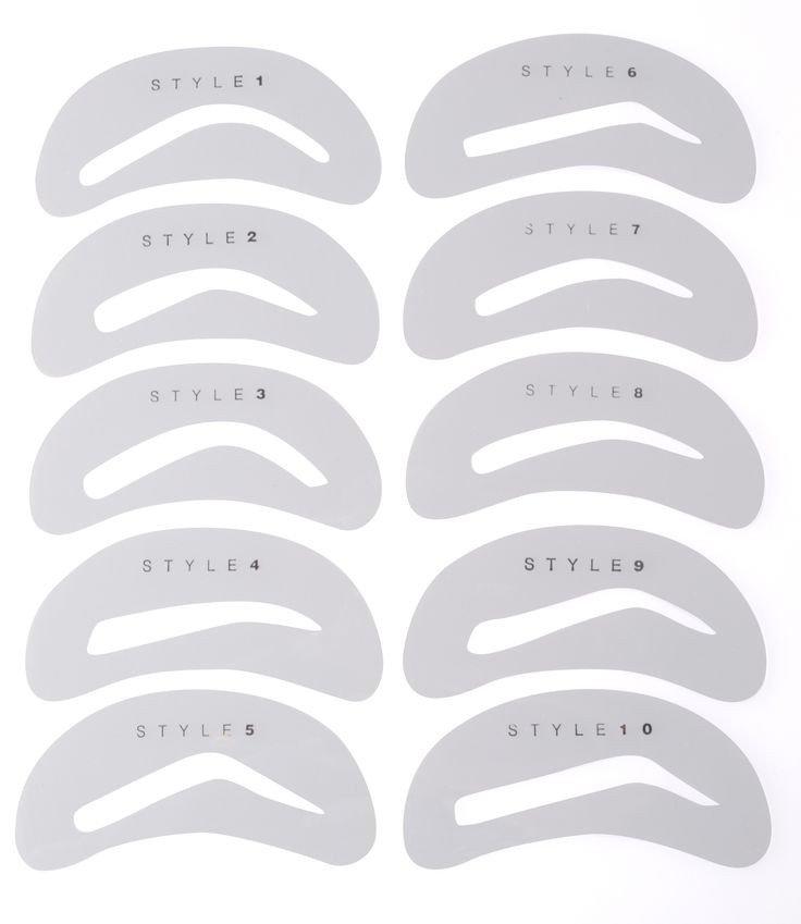 Free Eyebrow Stencils Printouts 25 Best Ideas About Eyebrow Stencil On Pinterest