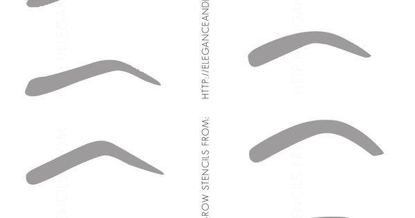 Free Eyebrow Stencils Printouts Free Printable Eyebrow Stencils 2038×3052 they Wrk
