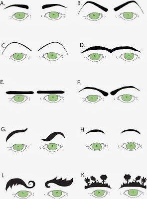 Free Eyebrow Stencils Printouts In Stitches
