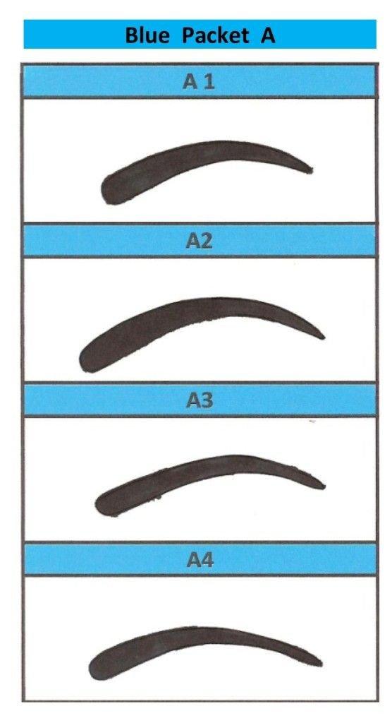 Free Eyebrow Stencils Printouts Printable Eyebrow Stencils Actual Size