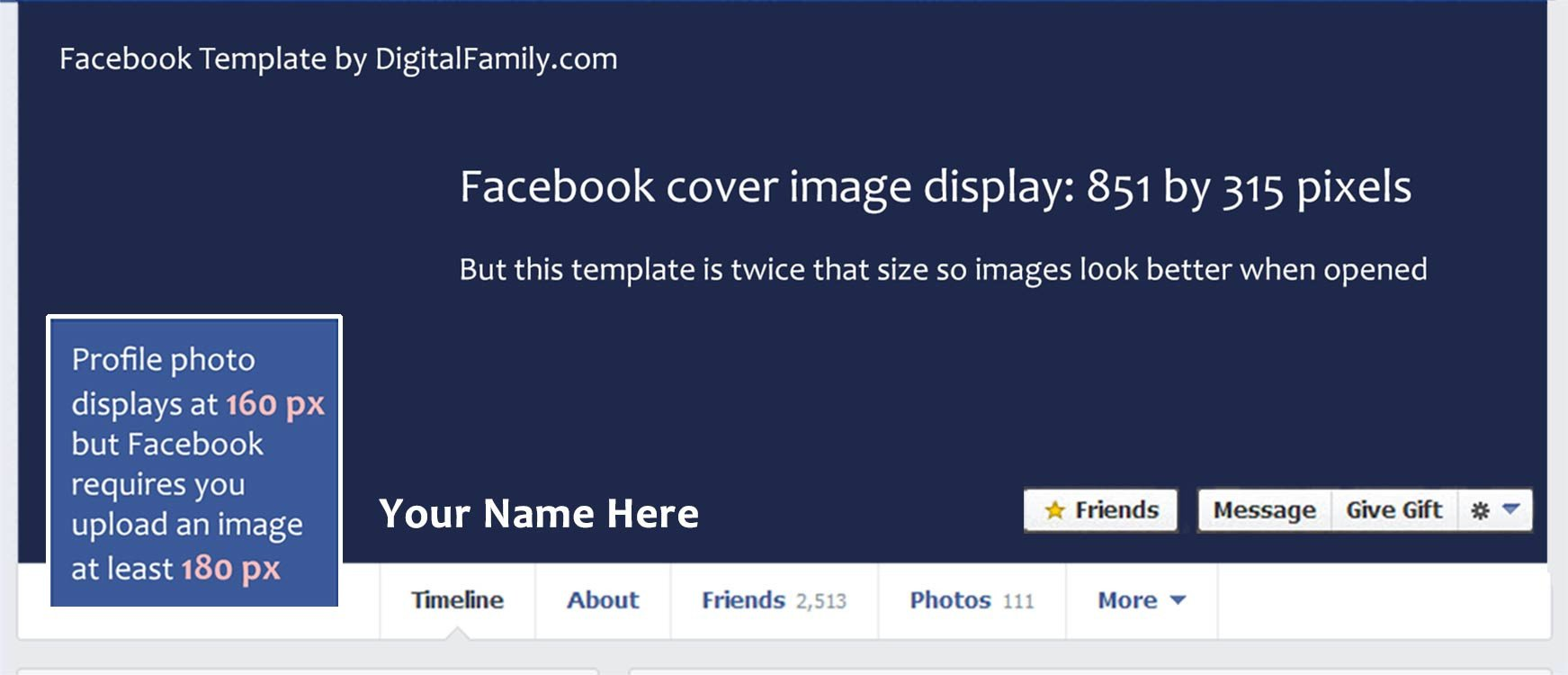 Free Facebook Covers Templates My Free Template is Twice the Size Re Mends