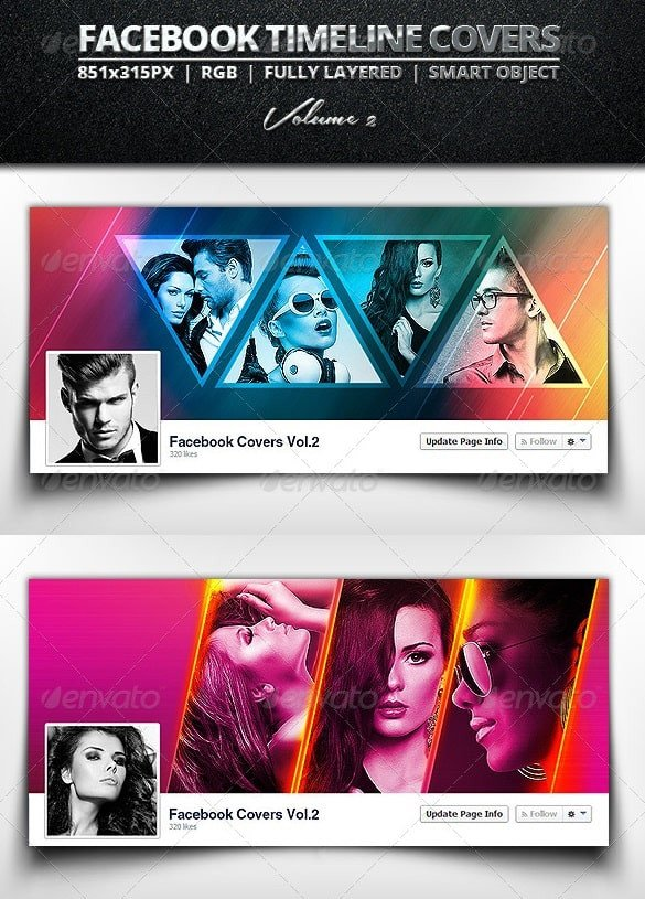 Free Facebook Covers Templates Timeline Cover Templates Free & Premium