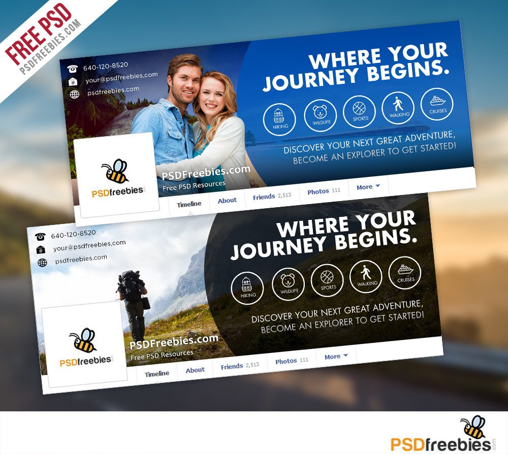 Free Facebook Covers Templates Travel Timeline Covers Free Psd Templates