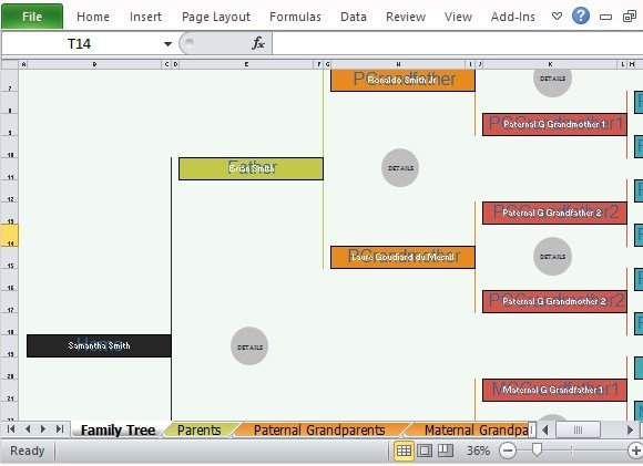 Free Family Tree Template Excel Family Tree Template for Excel