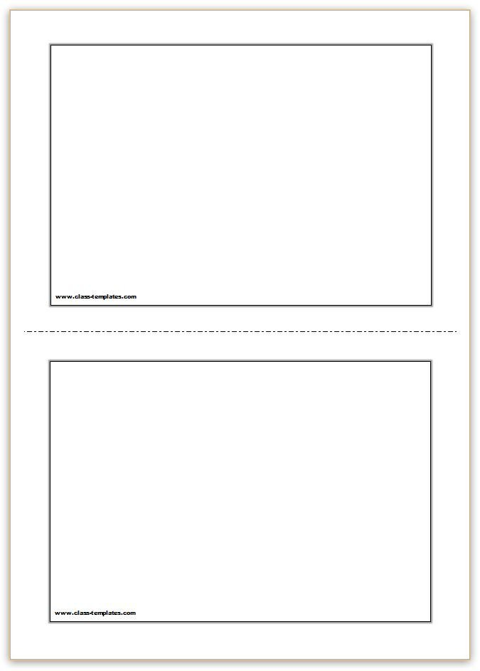 Free Flash Card Template Flash Card Template