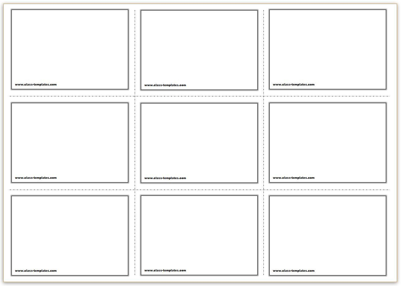Free Flash Card Template Free Printable Flash Cards Template