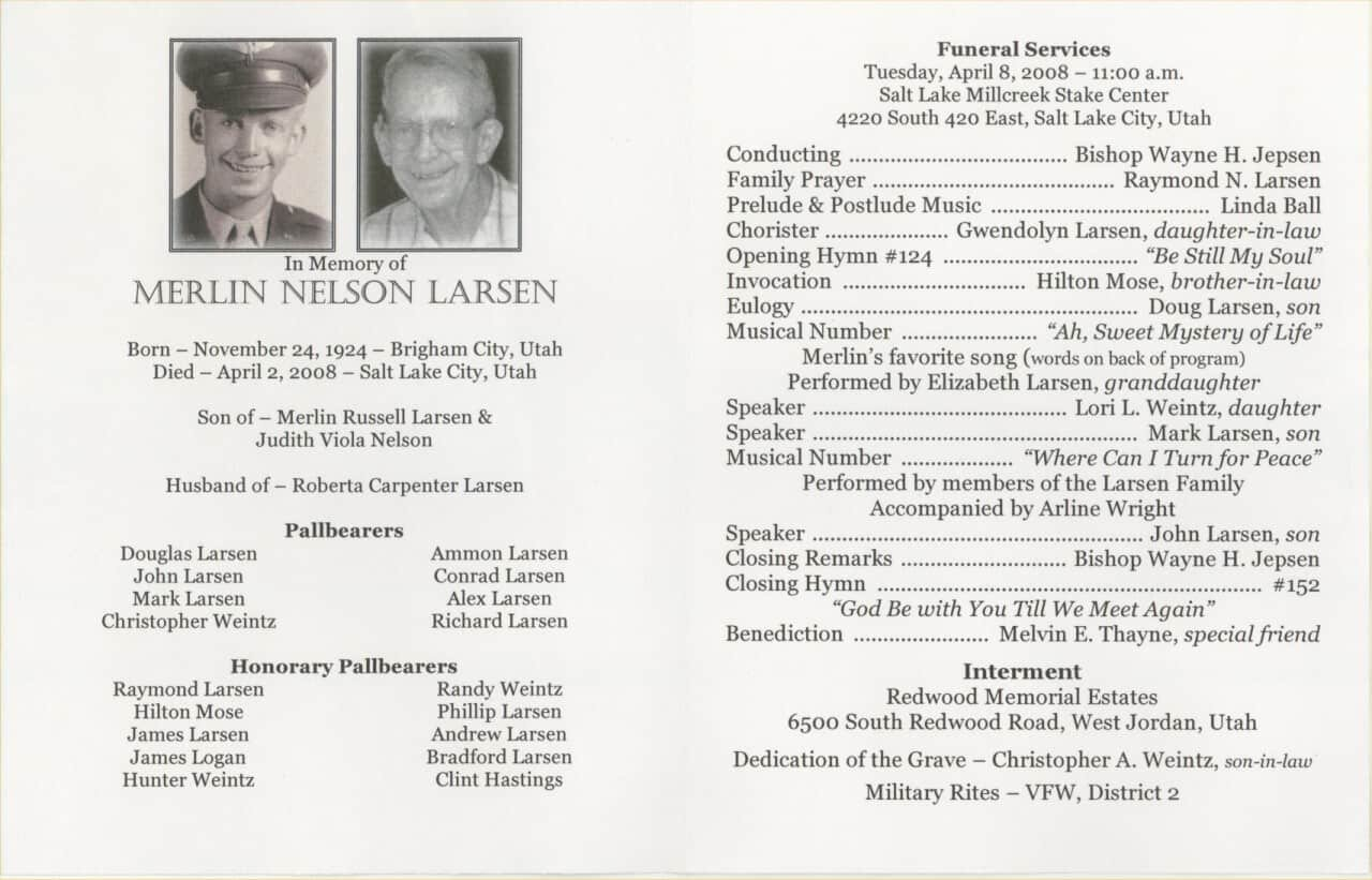Free Funeral Program Template Word 6 Free Funeral Program Templates Excel Pdf formats