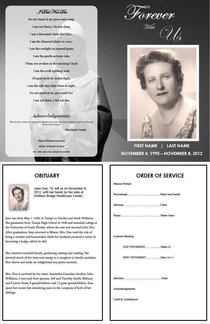 Free Funeral Program Template Word 73 Best Printable Funeral Program Templates Images On