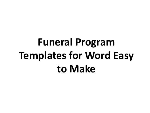 Free Funeral Program Template Word Free Printable Funeral Program Template for Word to Download