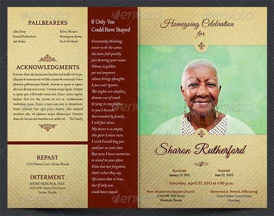 Free Funeral Program Template Word Funeral Program Template 30 Download Free Documents In