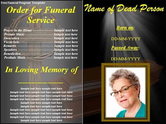 Sample Funeral Program Template 30 Download Free