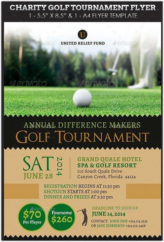 Free Golf Flyer Template Charity Golf tournament Flyer Hd 2