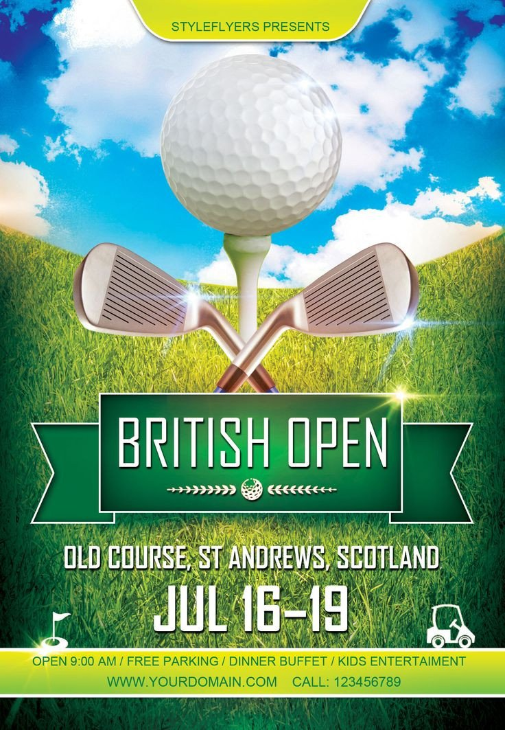Free Golf Flyer Template Free Sport Party Psd Flyer Template by Styleflyers