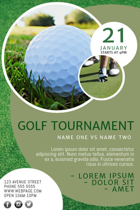 Free Golf Flyer Template Golf Flyer Template