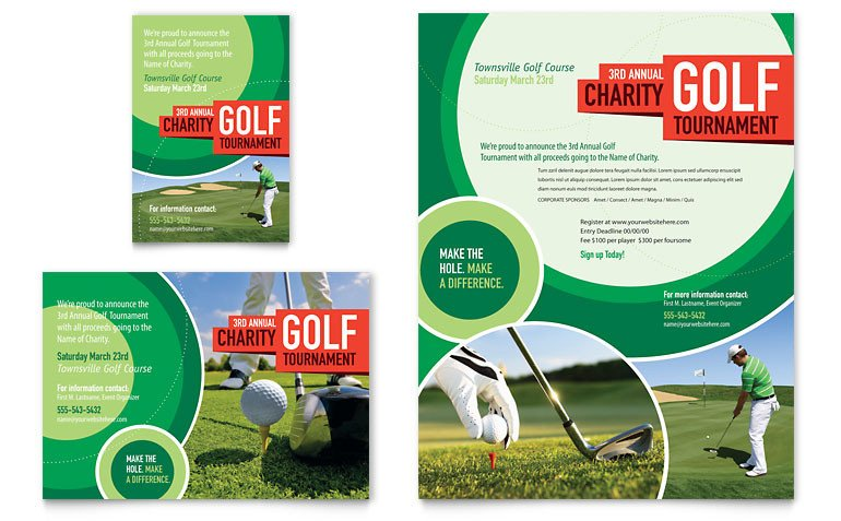 Free Golf Flyer Template Golf tournament Flyer & Ad Template Word & Publisher