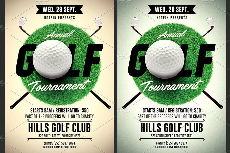 Golf Tournament Flyer Template Flyer Templates