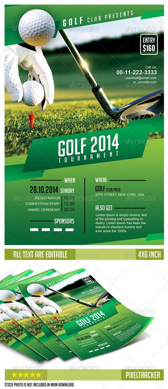 Free Golf Flyer Template Golf tournament Flyer Template No Model Required