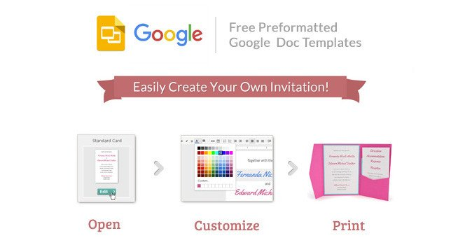 Free Google Doc Templates Cards and Pockets Free Google Invitation Templates