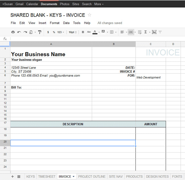 Free Google Doc Templates Google Docs Invoice Template