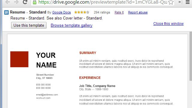 Free Google Doc Templates Use Google Docs Resume Templates for A Free Good Looking