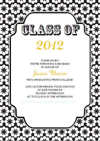 Free Grad Party Invitation Templates Free Printable Graduation Invitations Templates
