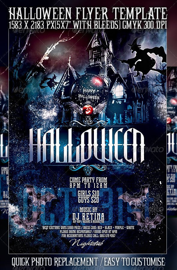 Free Halloween Flyer Templates 23 Wicked Halloween Psd Flyer Templates